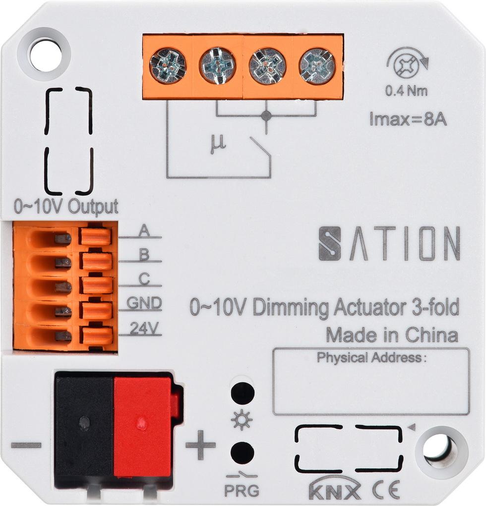 3路暗装0~10V驱动LED调光模块